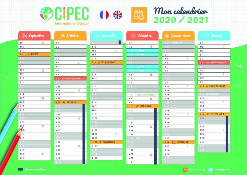 CIPEC 2020 2021 Calendar – C I P E C – International School